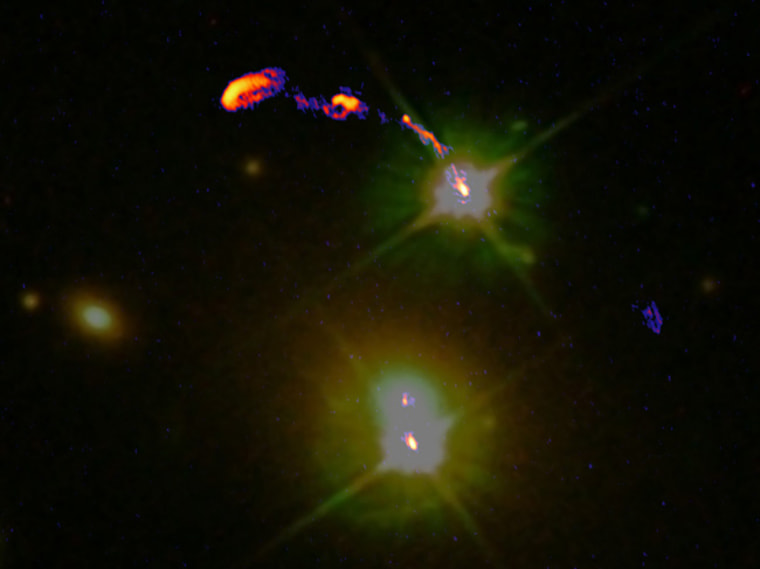 Image: Wide-field composite image of the Double Quasar