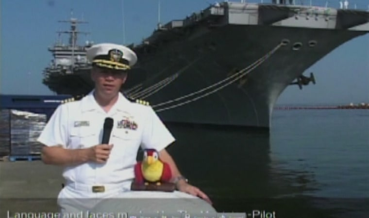 Image: Capt. Owen Honors of the USS Enterprise aircraft carrier is pictured with the aircraft carrier