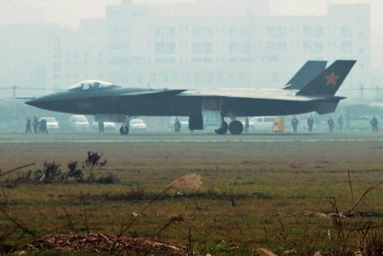 Image: An aircraft that is reported to be a Chinese stealth fighter
