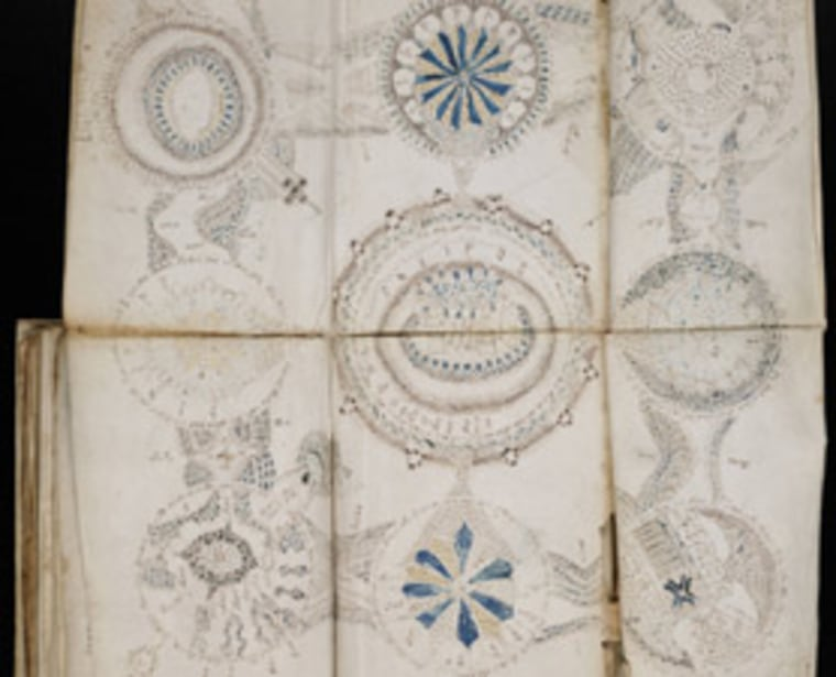"""Ever since Wilfrid Voynich made the manuscript public inhopes of having it translated, theories flourished about the book's author and content. The book, which is about 250 pages long, makes """"The Da Vinci Code"""" pale by comparison."""