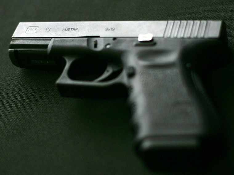 Image: (FILES)A Glock 19 9MM pistol, is picture