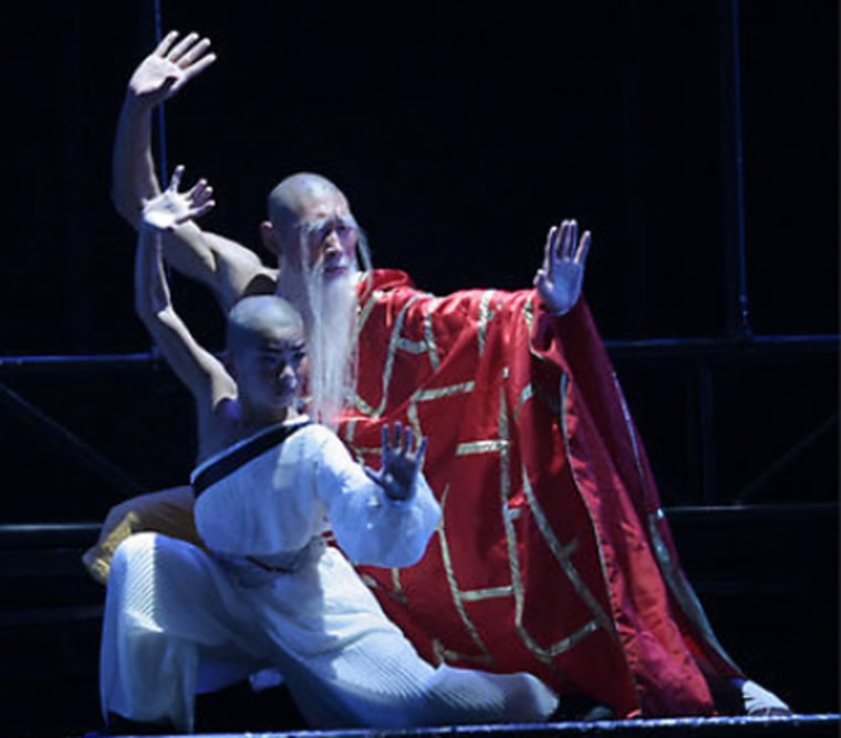 """Performers at The White House Theater in Branson, Mo. which was purchased by a Beijing-based company for $3.5 million. Local tourism officials hope """"The Legend of Kung-fu"""" about a boy on a quest for wisdom will help attract a younger set of visitors to the town."""