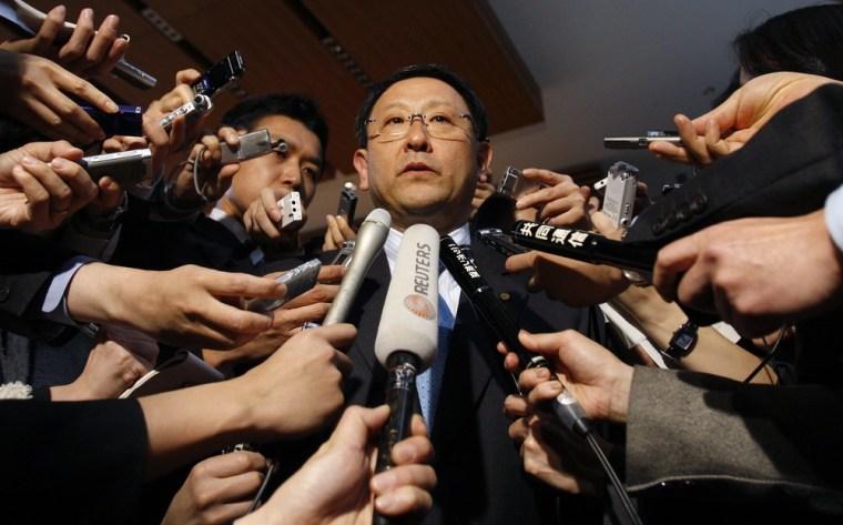 Image: Toyota Motor Corp President Akio Toyoda