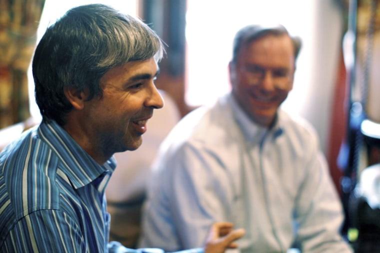 Image: Larry Page, Eric Schmidt