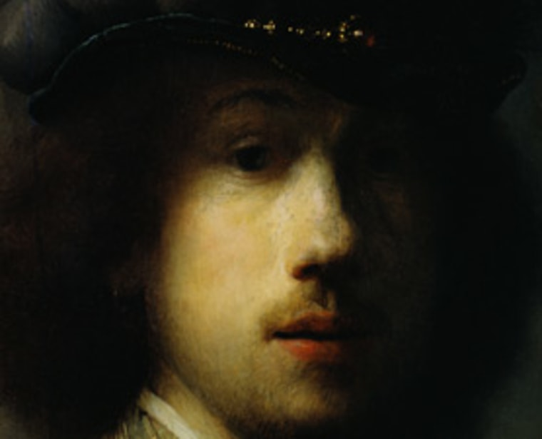 Rembrandt himself appears in this self-portrait, created in 1629.
