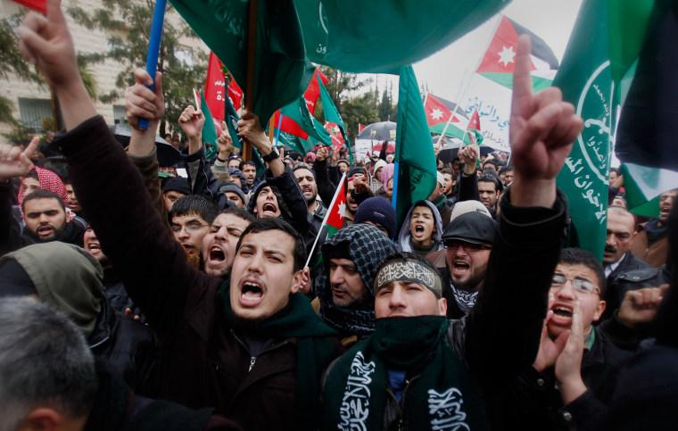 Image: Protests in Amman, Jordan