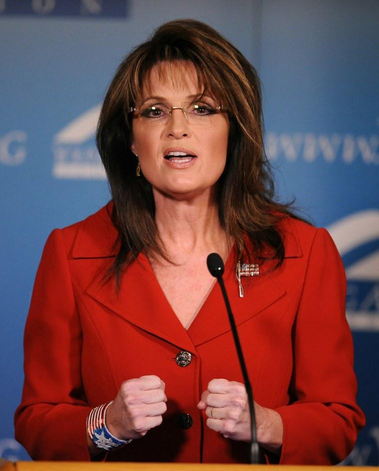 Image: Former Alaska governor Sarah Palin speak