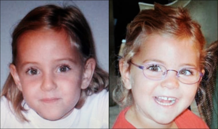 Police in Italy, Switzerland and France searched Sundayfor 6-year old twin girls Livia (left) and Alessia, who disappeared after their father died in an apparent suicide.