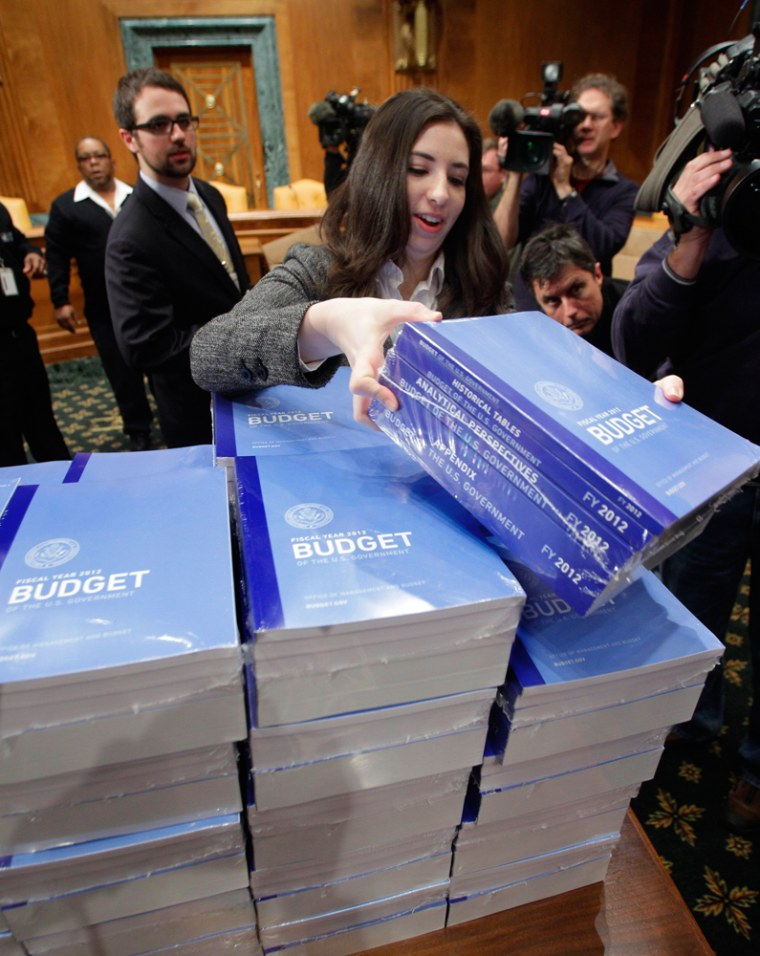 Image: Copies of President Obama's 2012 budget