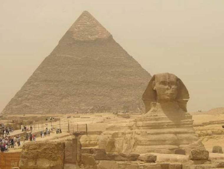 The Great Pyramids of Egypt are among the massive archaeological interests in Egypt.