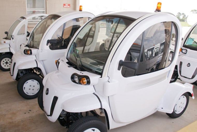 Here's a look at NASA's low-speed electric vehicles, or LSEV, used at the space agency's Kennedy Space Center in Florida. NASA technology has contributed to private industry, too.