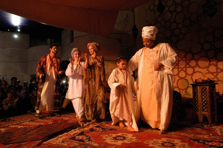 A scene from the Khayaal Theatre Company's Souk Stories.