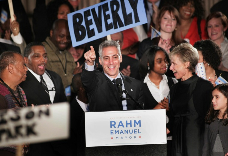 Image: Rahm Emanuel Supporters Await Results Of Chicago Mayoral Election