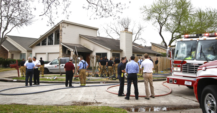 Image: Emergency Personnel respond to the location where a fire broke out at a day care