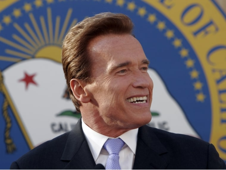"""""""We want a new era of energy independence, a new era of green technology and green jobs, a new era of better health from a cleaner environment and a new era of American inventiveness,"""" Arnold Schwarzenegger said Tuesday."""