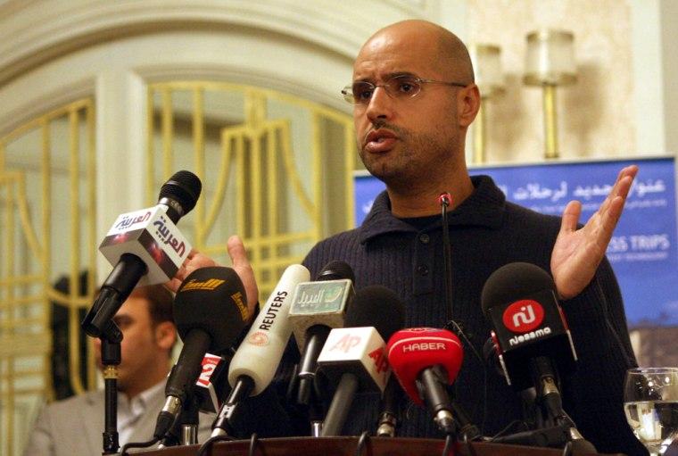 Image: Saif al-Islam Gaddafi