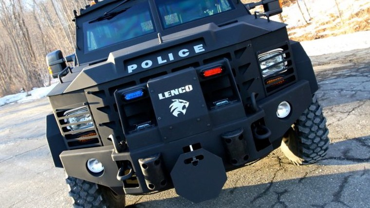 The Lenco BearCat G3has option controls for battering rams, winches and even surviving a chemical weapons attack. With military-grade armor and the ability to take repeated hits from bullets up to .50 caliber, it's most frequently used by police as a rolling shield.