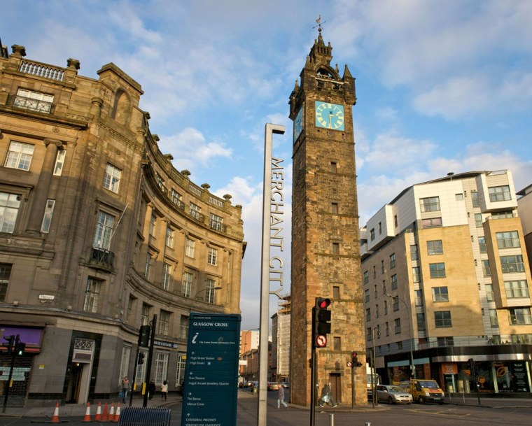Image: Tolbooth Steeple Glasgow Cross Merchant City Glasgow UK. Image shot 2009. Exact date unknown.