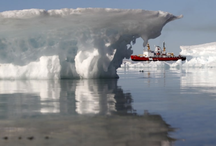 Image: The Canadian Coast Guard icebreaker Henry Larsen is pictured in Allen Bay in Resolute