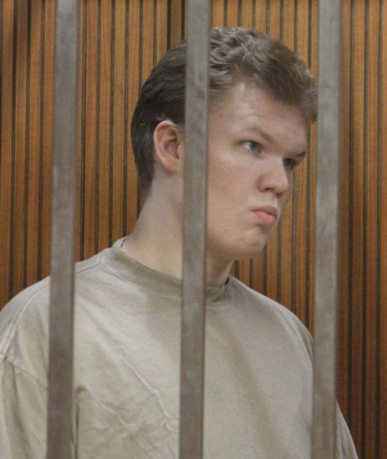 Image: George Bronk behind bars
