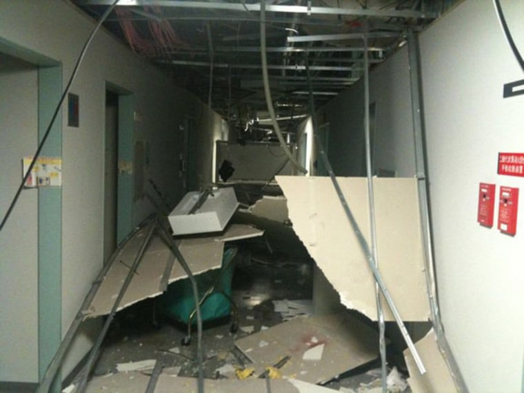This photo shows some of the damage to Japan's Tsukuba Space Center —the main space center for the country's JAXA agency — from the 8.9-magnitude earthquake that struck on Friday.