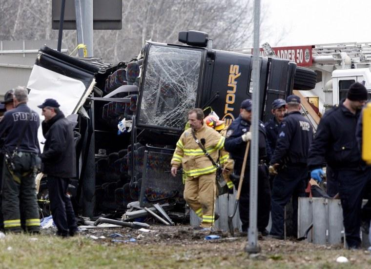 Image: Scene of bus accident