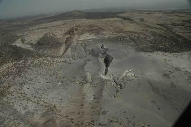The rift in Afar, Ethiopia, that is separating Africa and Arabia and will eventually form a new ocean.