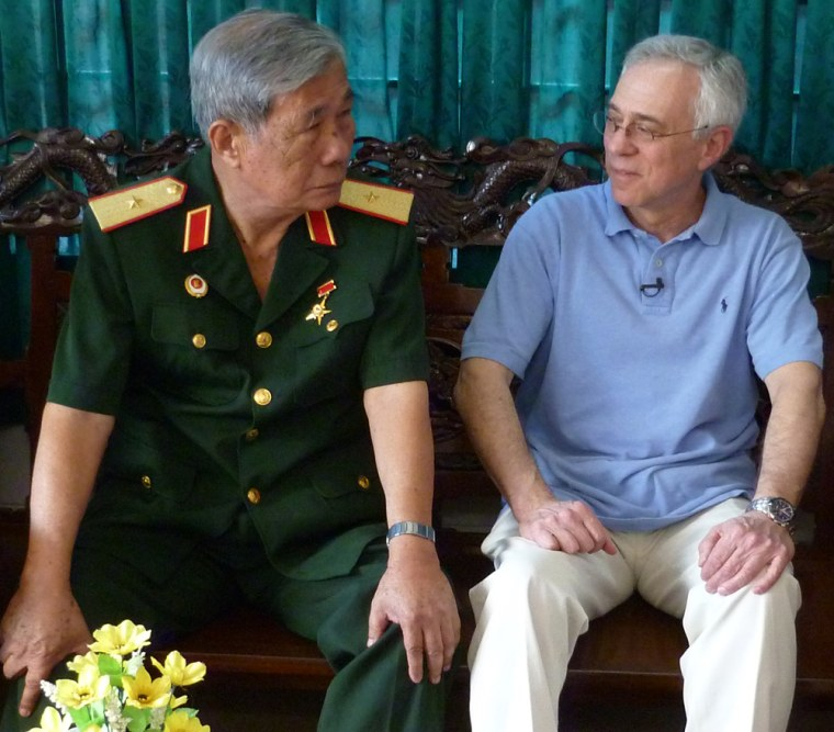 Image: Pham Phi Hung, left, and Jack Jacobs in Cao Lanh, Vietnam.