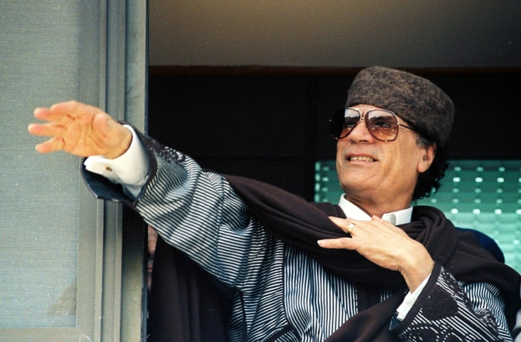 Image: Libyan leader Moammar Gadhafi pictured in 1996. Brazilian plastic surgeon Dr. Liacyr Ribeiro  says that he performed middle-of-the night cosmetic surgery on Gadhafi deep inside one of the leader's bunkers in 1995.