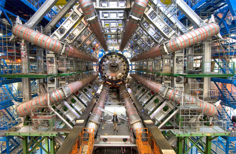 Scientists with the Large Hadron Collider's (above) CMS and ATLAS experiments noted the Tevatron results with great interest, and predict that they, in turn,will be able to further reduce the mass range where the Higgs might be lurking.