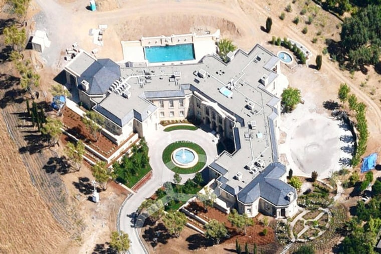 Image: Aerial of the 25,500-square-foot home in Los Altos Hills, Calif. home purchased by Yuri Milner