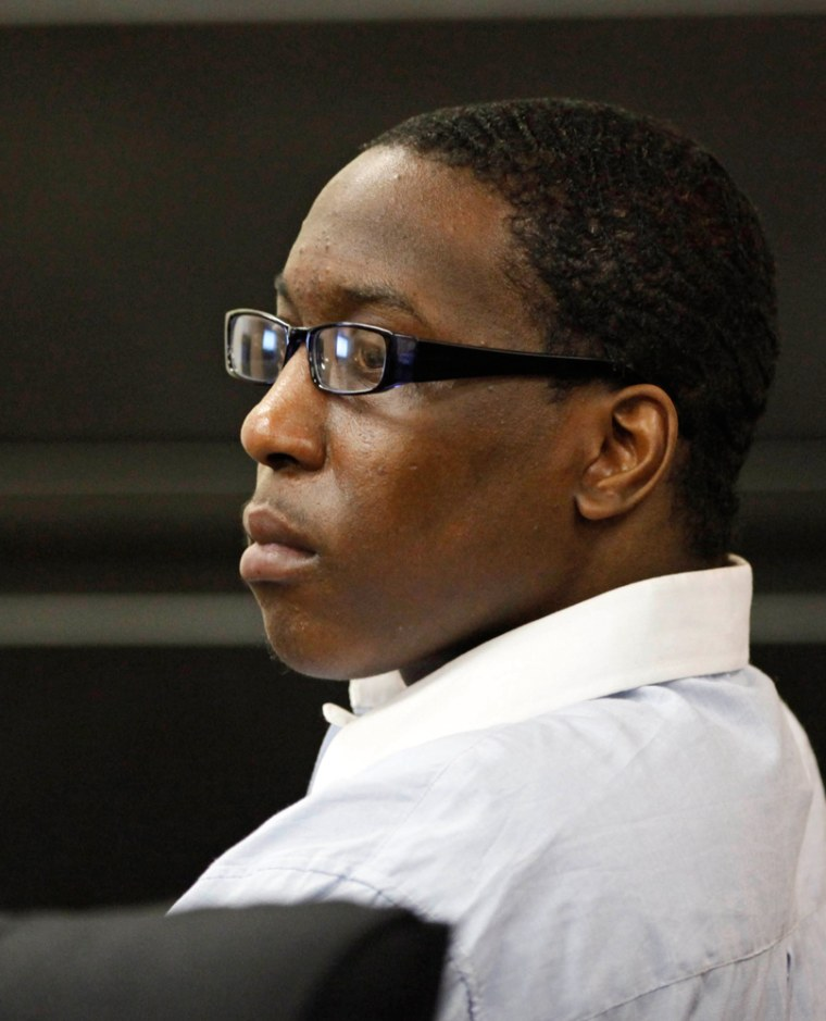 Image: Riccardo M. McCray listens to his attorney's closing argument at the Erie County Courthouse, in Buffalo, N.Y.