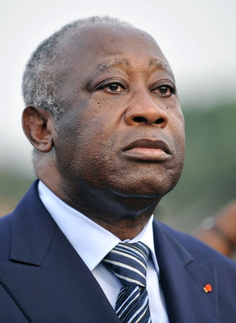 Image: Ivory Coast strongman Laurent Gbagbo at a ceremony in February