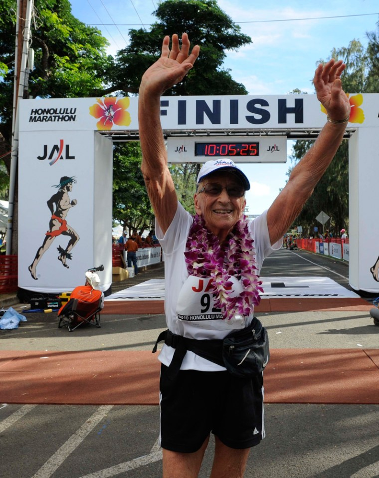 Gladys Burrill had been a multi-engine aircraft pilot, mountain climber, desert hiker and horseback rider before she ran her first marathon in 2004 at the age of 86.