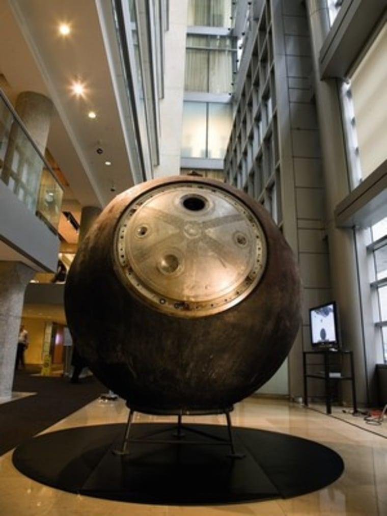 The Vostok 3KA-2 capsule measures about 7 feet in diameter.