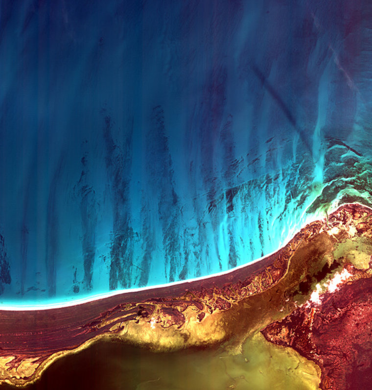 Holbox Island and the Yalahau Lagoon on the northeast corner of Mexico's Yucatan Peninsula are the focus ofthis image from the Korea Multi-purpose Satellite (Kompsat-2).