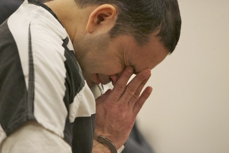 Image: Nestor Gabriel Caballero Gutierrez reacts during his sentencing in Clackamas County Court on Thursday, April 14,.