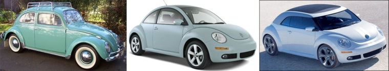 Image: VW Beetles from 1979, 2010 and 2012