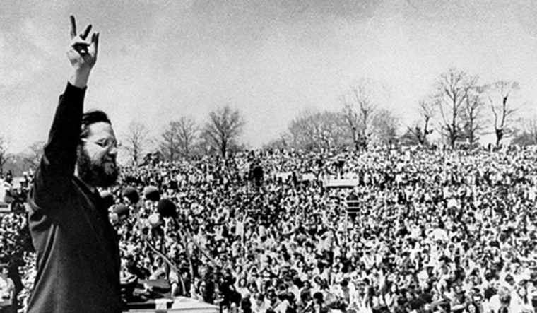 Ira Einhorn was the master of ceremonies at the first Earth Day rally on April 22, 1970.