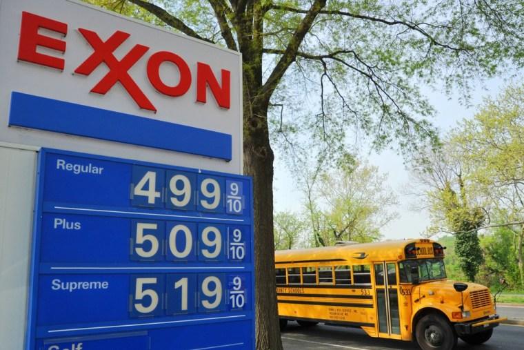 Image: Exxon gas prices in Washington, D.C.