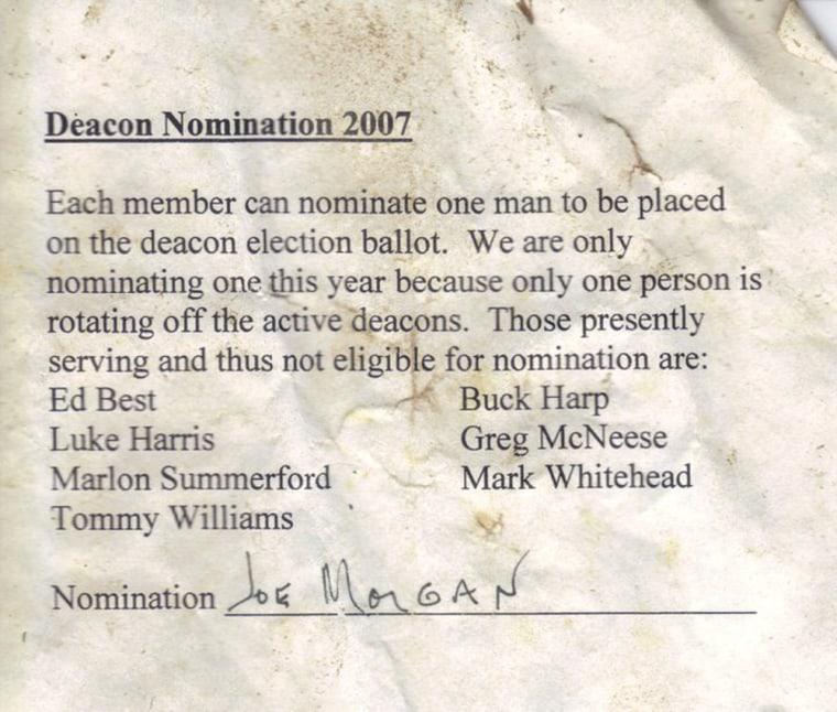 Image: Deacon letter