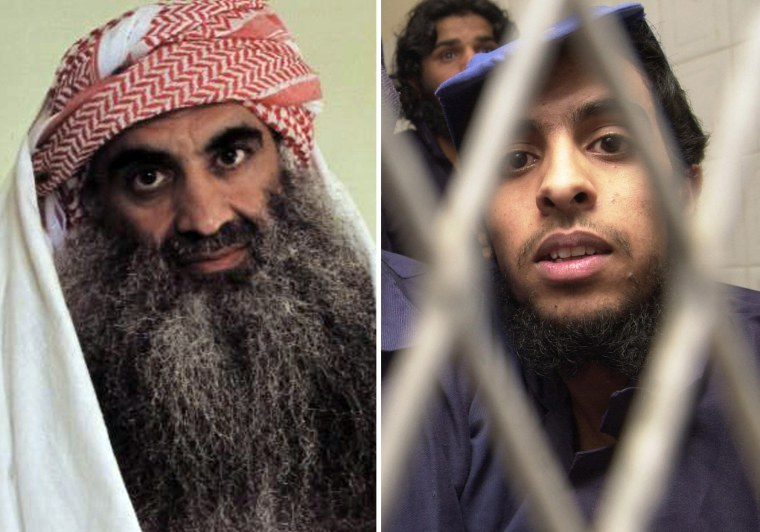 """Khaled Sheikh Mohammed, left, and Mohammed al-Qahtani were among the """"high-profile"""" detainees subjected to so-called """"enhanced"""" interrogation techniques."""