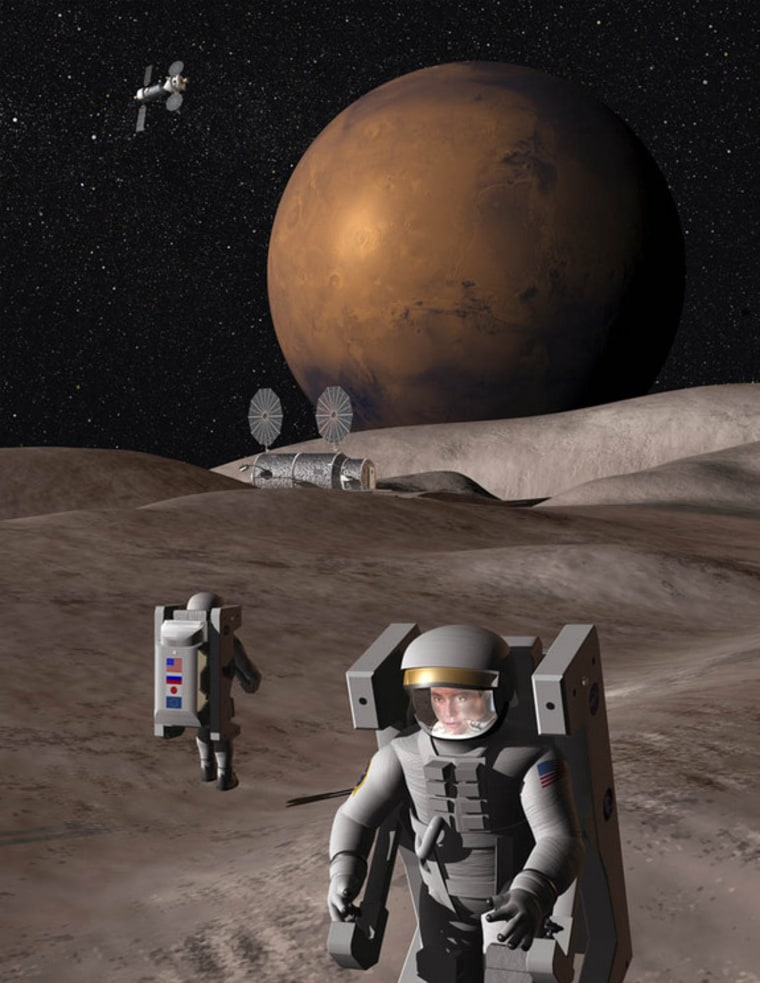 The Red Rocks mission to the Martian moon Deimos has been blueprinted as a stepping stone to planting human boots on Mars.