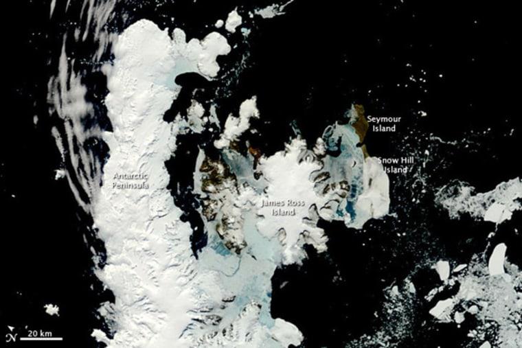 The Antarctic Peninsula in spring.