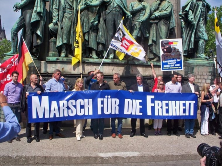 A member of Youth for Western Civilization spoke at arally last weekend in Cologne, Germany, that also drew representativesfrom several right-wing European groups that have been assailed for extremist views.