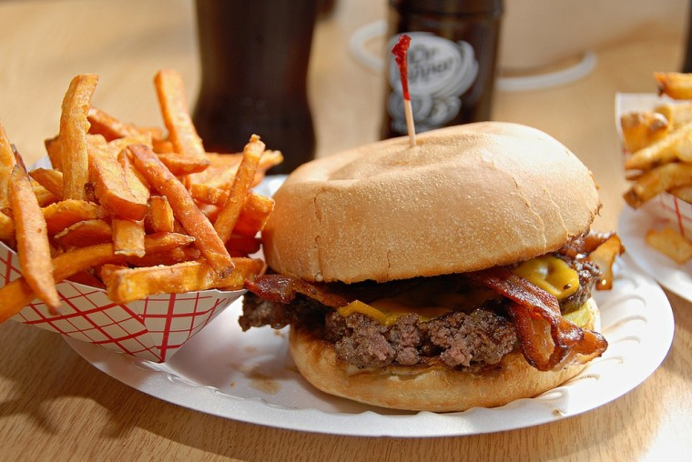 Image: Burger and fries