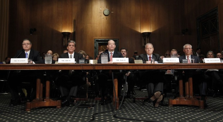Image: Oil and gas industry executives testify on Capitol Hill in Washington