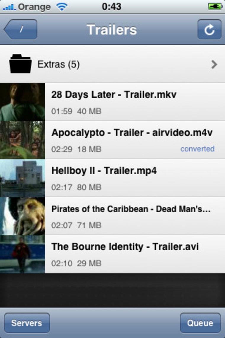 Image: Air Video app screenshot