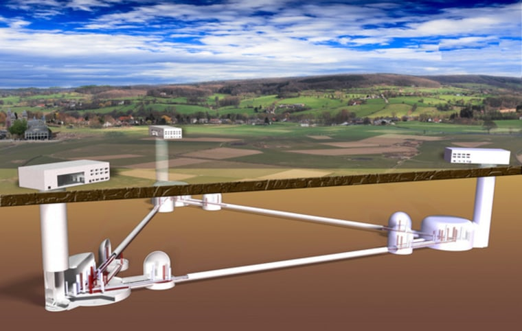 An artist's view of the proposed Einstein Telescope observatory.