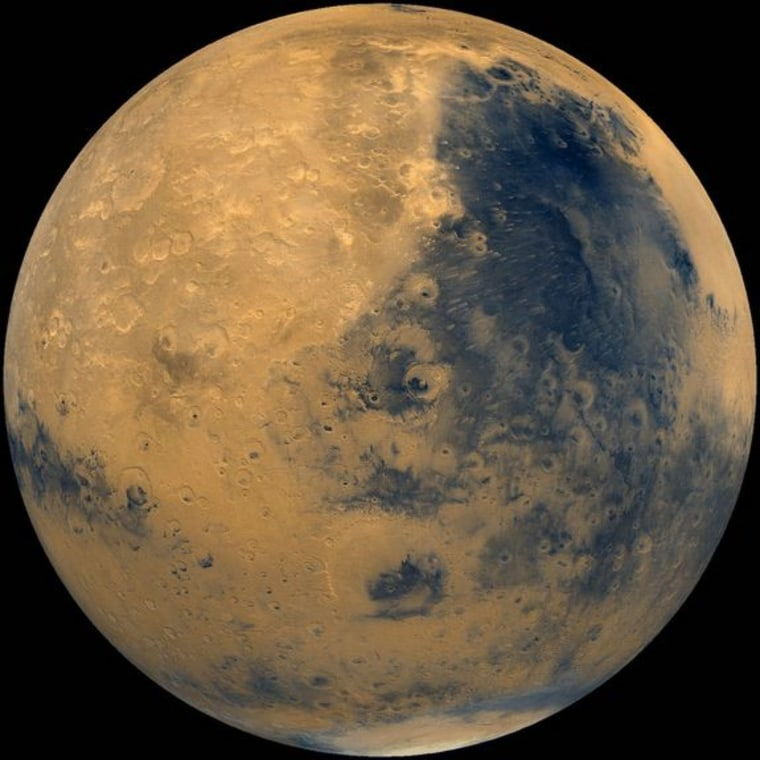 A photo of Mars from NASA's Viking spacecraft, which launched in 1975.